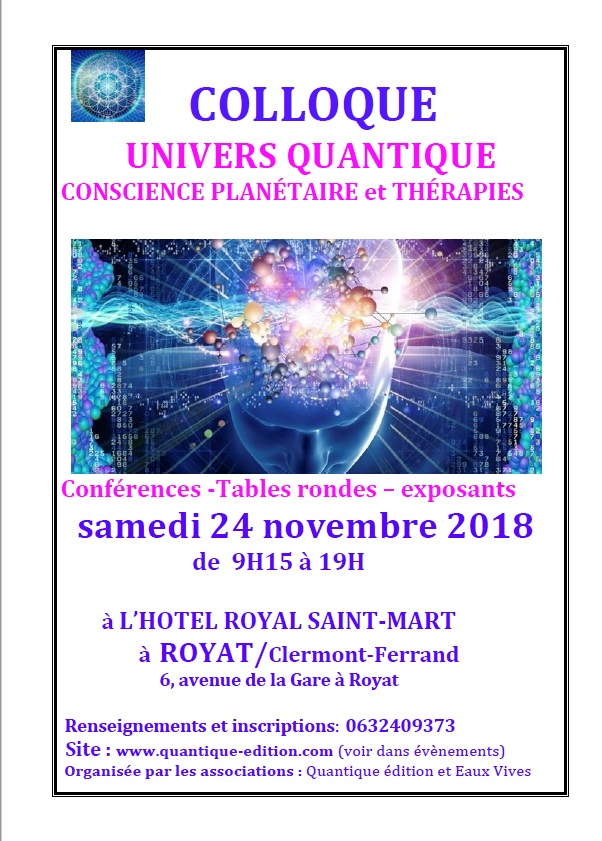 Colloque Univers Quantique Olivia de Raucourt
